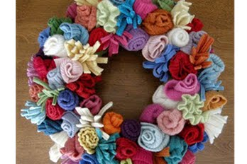 felt wreath, craft