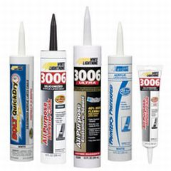 White Lightening acrylic caulking products