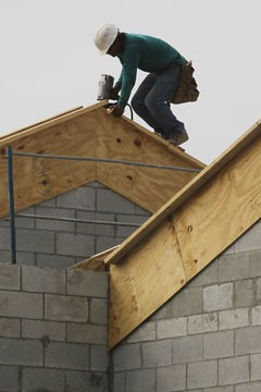 construction worker, roof, exterior, construction