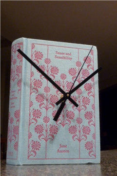 diy clock, book cover