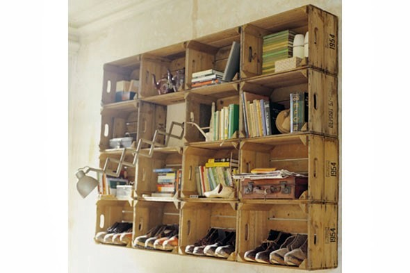 Cheap Trick Use Apple Crates As Wall Storage