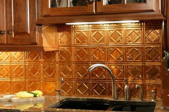 fasade backsplash panels in muted gold photo acp