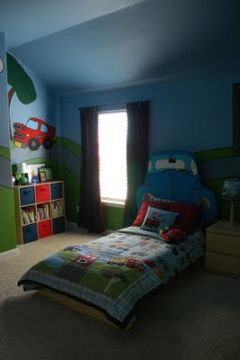 Boy's bedroom with blackout curtains