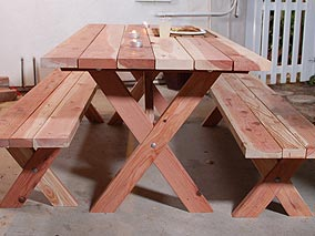 Build Your Own Picnic Table Set