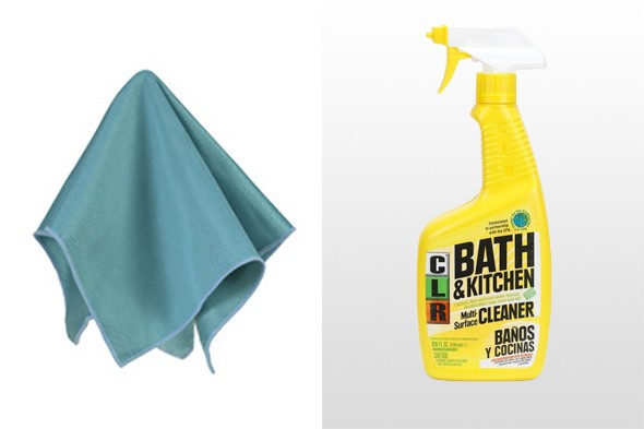 how to clean shower screen with clr