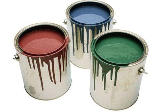 cans of paint, interior paint