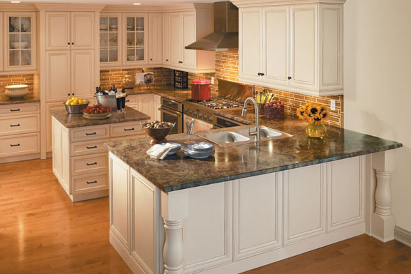 Kitchen Countertops Formica : Can you believe that these countertops are laminate? Photo: Formica