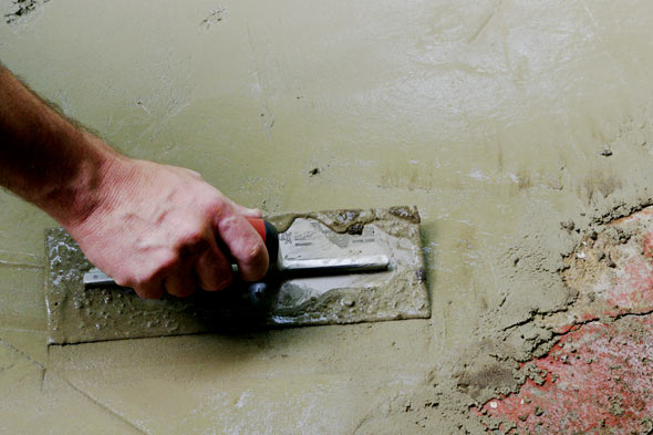 how to pour concrete, trowel