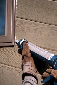 seal window, caulking