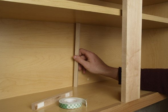 The Daily Fix Stabilize A Sagging Kitchen Cabinet Shelf