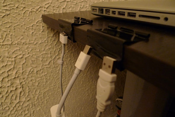use binder clips to organize cables