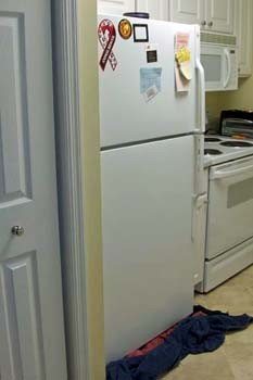 How to for Refrigerator leaking water on floor