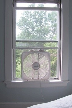 Everyone knows that putting a box-style window fan in the window will