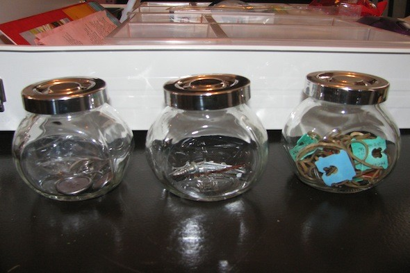 jars for storing small items