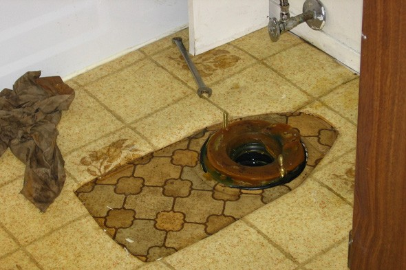 replace toilet, wax ring