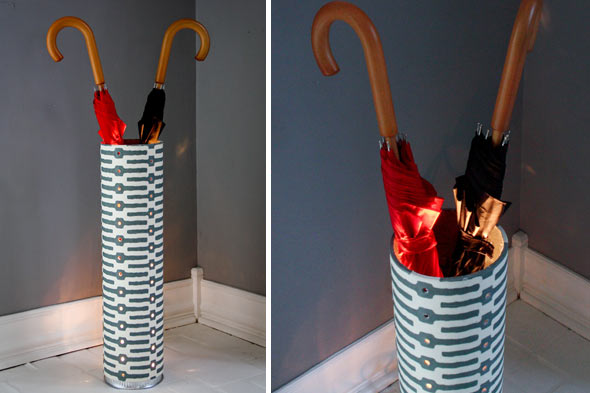 umbrella stand from plumbing pipes