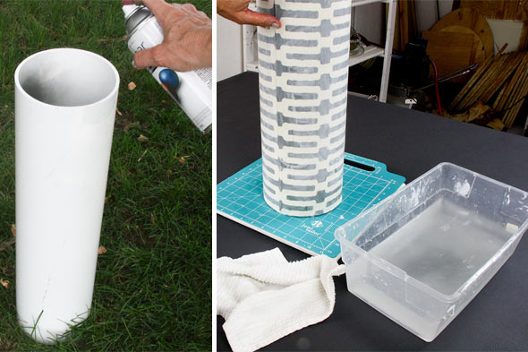 make an umbrella stand from pipes