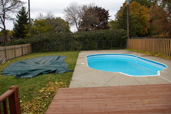 winter pool, pool covers