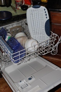 keyboard, dishwasher