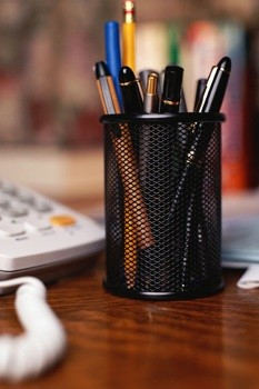pen cup, desk accessories, home office, dishwasher