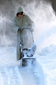 how to clean spillled gasoline on snow blower