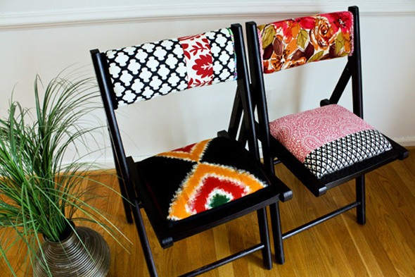 diy chairs, super bowl party