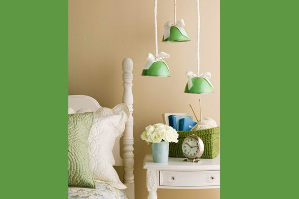 everyday items, diy pendant lamps