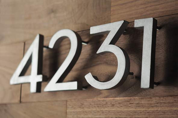 How to for Modern house numbers home depot
