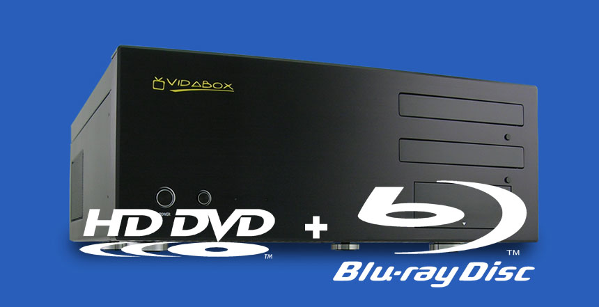 VidaBox LUX HD DVD and Blu-ray media PC