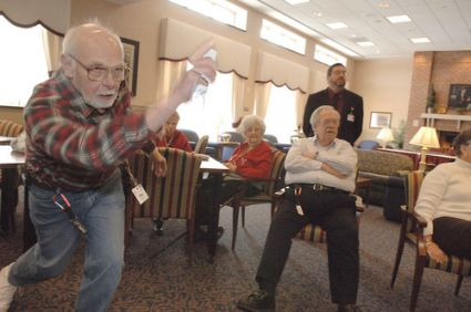 Wii Bowling Old People