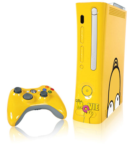 Pictures Of Xbox 360. Simpsons-themed Xbox 360