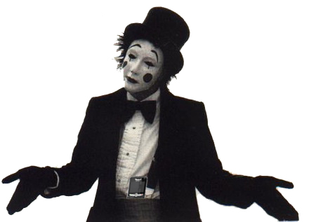 What do mimes look like when they're having sex anyway