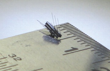 Mini-robot swims through bloodstream