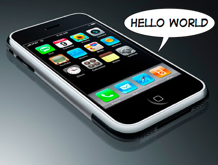 iPhone First Program Hello world Example  on Xcode