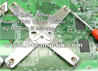 Commercial X-clamp fix for red-ringed 360s: mostly new screws X Clamp Repair