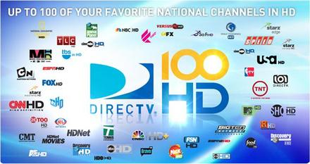 DirecTV's 100 HD channels