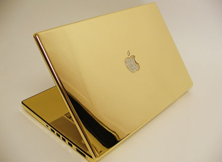 computer choppers gold macbook pro EveryThing Made of Gold image gallery