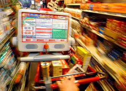 intelligent shopping cart Intelligent electronic mega-mart shopping cart with the advancement of time, large shopping complexes have sprung up the main idea behind such shopping areas is to provide all the things the customer might want to buy, under one roof.
