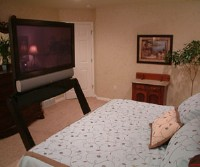 k2 mounts mk 1 studio 39 s tv lift hides flat panel under bed. Black Bedroom Furniture Sets. Home Design Ideas