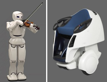 Toyota unveils violin-playing, personal transport robots