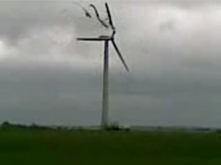 Wind turbines in an Danish Storm
