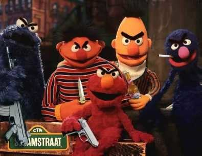 Sesame Street gang