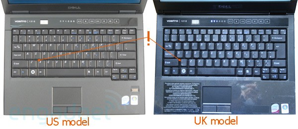 Dell S Vostro 1310 Keyboard Putting The Hurt On Uk Touch