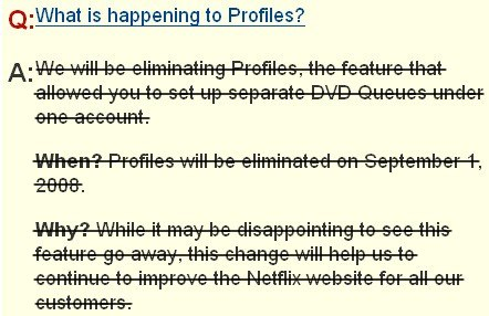 Netflix keeps Profiles