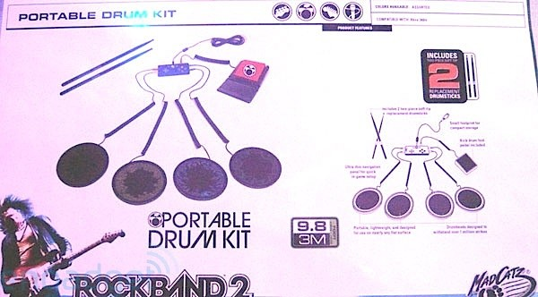 Mad Catz Rock Band 3 Guitar. Mad Catz portable drums
