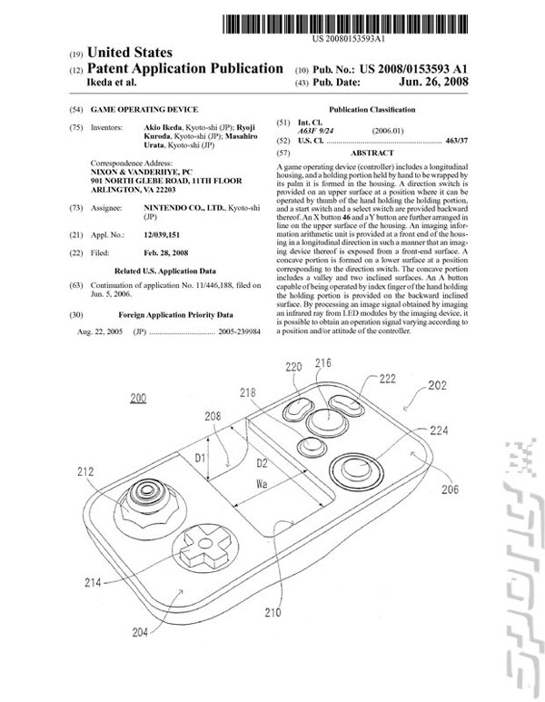 Nintendo Classic Controller attachment patent