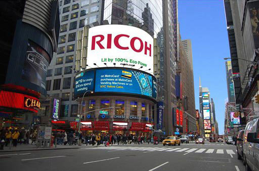Ricoh solar-powered billboard