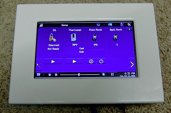 mPanel In-wall touch screen.