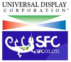 Universal Display and SFC logos