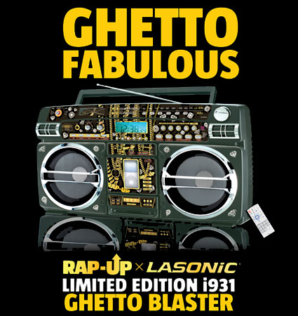 Lasonic and rap up team for the limited edition i931 boombox - Lasonic ghetto blaster i931x ...